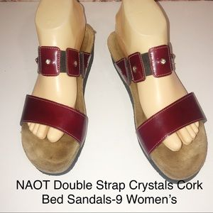 NAOT Ashley Wine Patent Leather Sandals-40/9